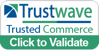 A Trustwave badge that says Trustwave. Trusted Commerce.