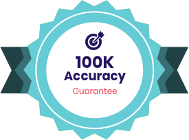 $100K Accuracy Guarantee badge